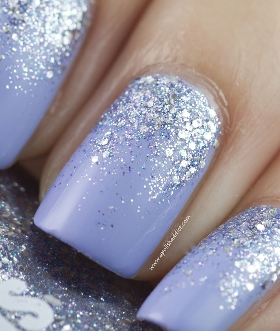 Nails Inc for Instyle Bluebell Reverse Glitter Gradient | A Polish ...