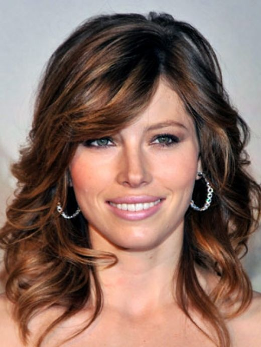 Long Dark Brown With Light Brown And Blonde Highlights Wavy Hair