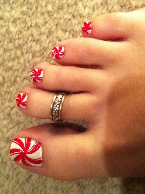 Cute Christmas Toe Nail Art The Beauty Thesis