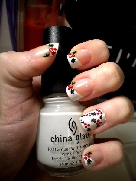Christmas Holly Nails The Beauty Thesis