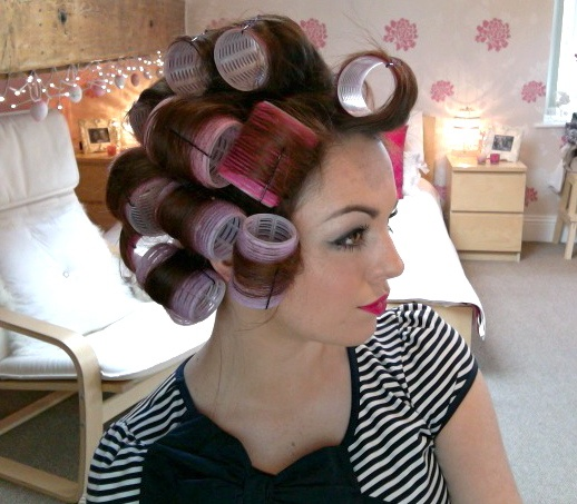 how to put rollers in hair