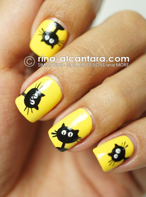 Black Cats Galore Nail Art Design For Halloween The Beauty Thesis