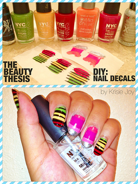DIY Nail Decals The Beauty Thesis - How to make nail decals at home