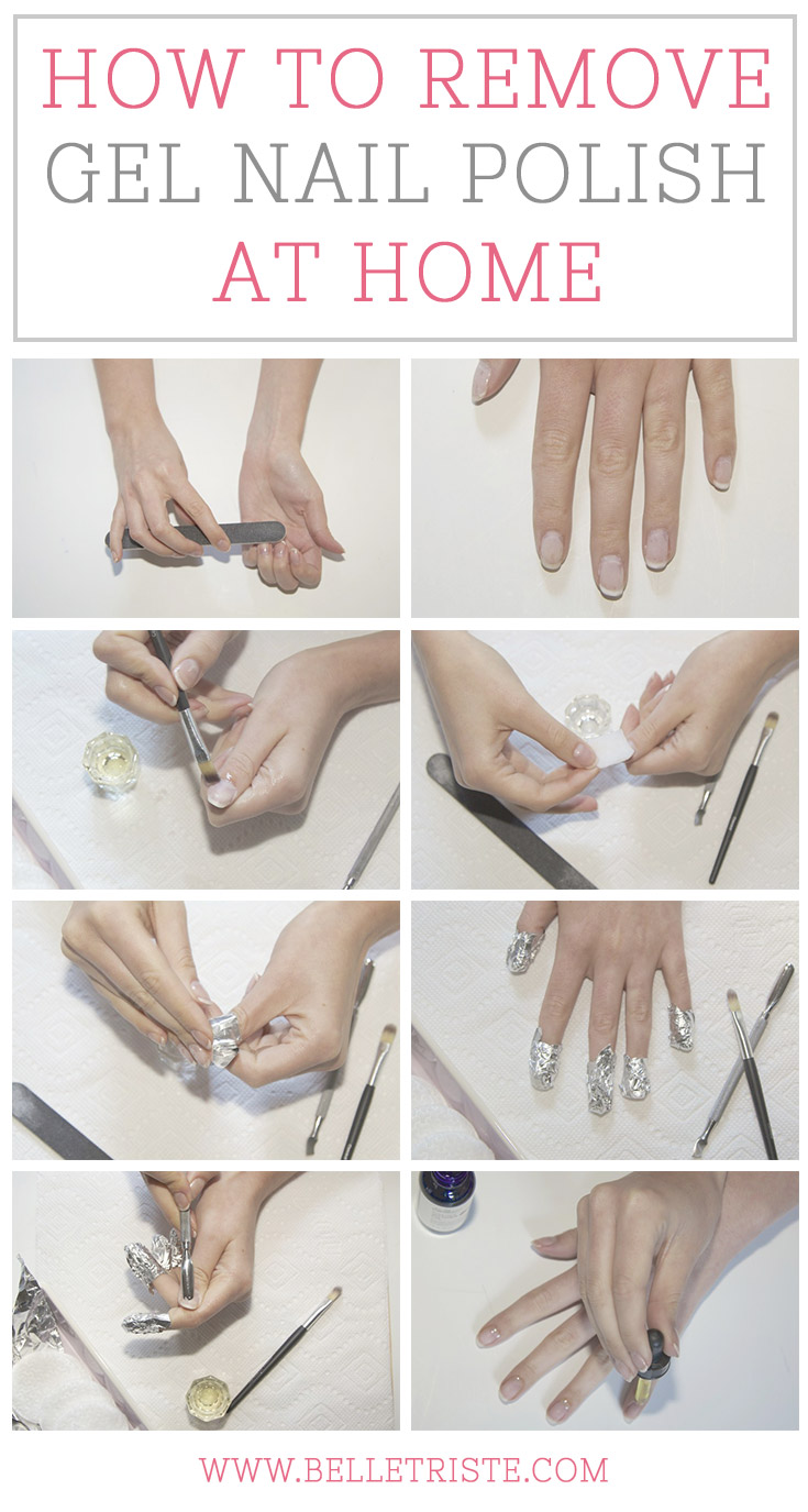 How to remove gel polish from nails at home