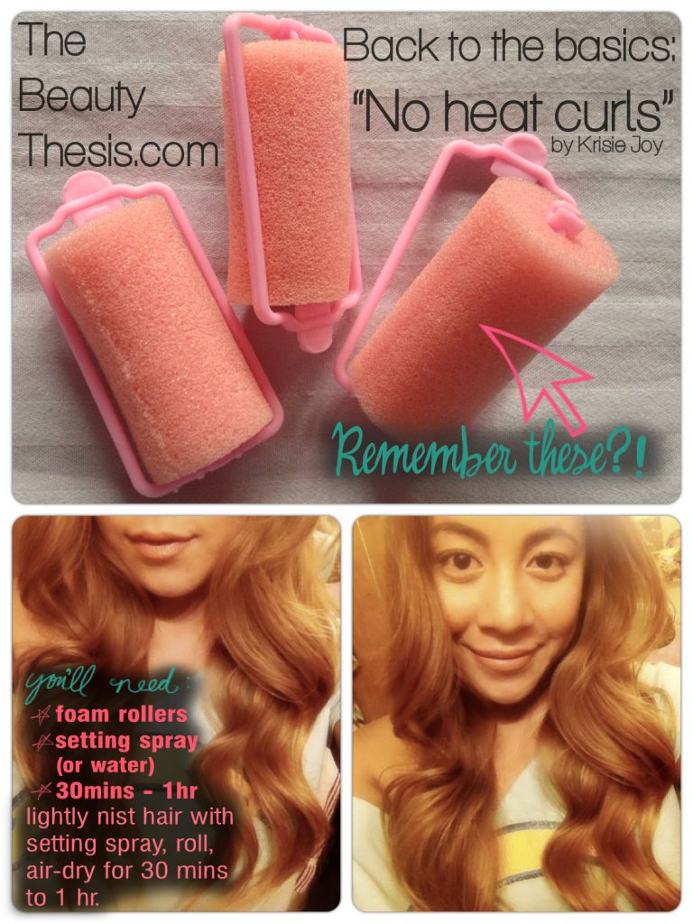 TheBeautyThesis - No Heat Curls