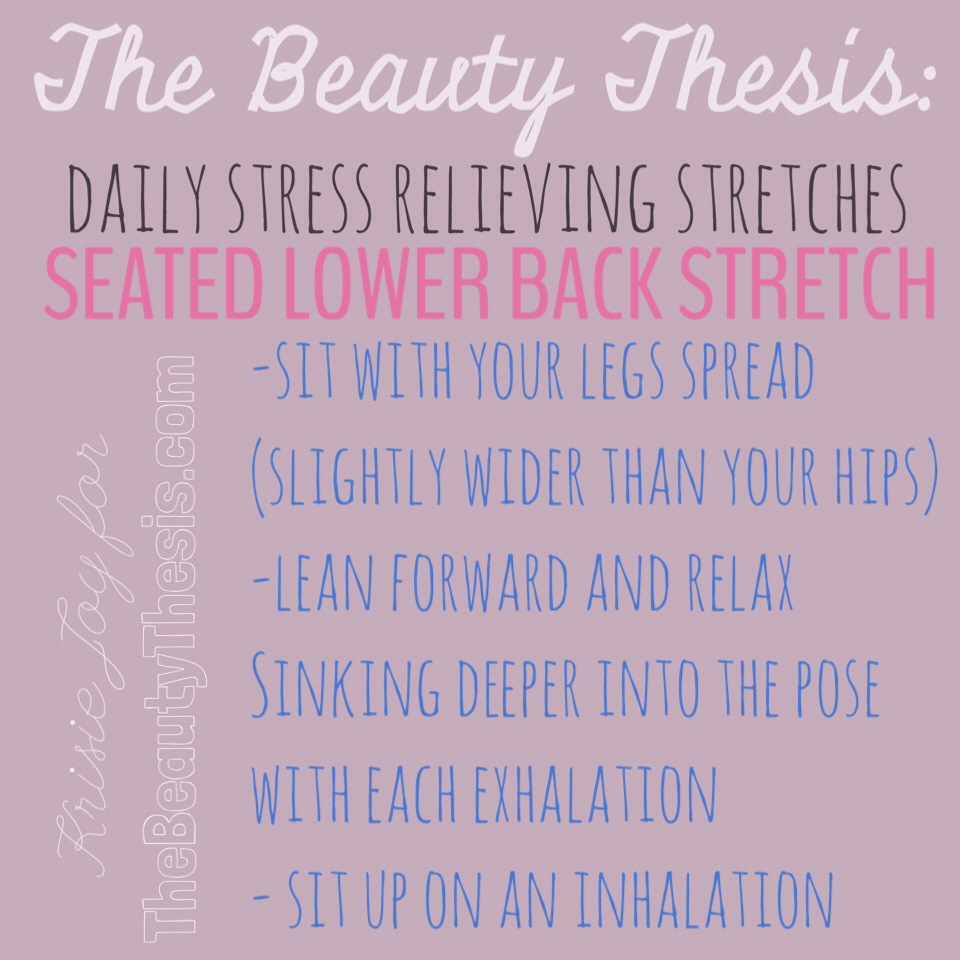 The Seated Lower Back Stretch
